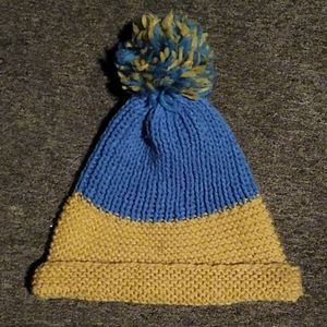Knitted vintage stocking cap.